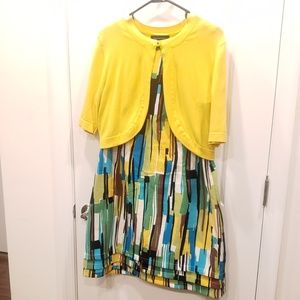 Dress with Short Sleeve Cardigan
